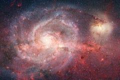 外层空间艺术 星云、星系和明亮的星在美好的构成 皇族释放例证