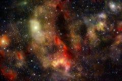 外层空间星星云背景 免版税库存照片