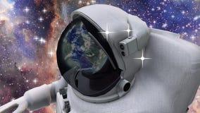 外层空间的宇航员 库存例证