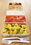 外带的印第安食物 免版税库存图片