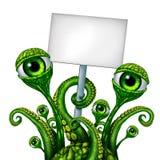 外星人生物标志 免版税库存照片