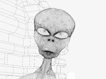 外星人头 免版税图库摄影