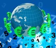 外汇欧元手段汇兑和欧洲人 库存图片