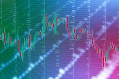 外汇股市投资贸易图表图  库存照片