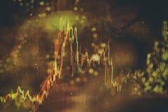 外汇贸易图表和烛台图适用于金融投资概念 经济趋向企业想法的背景 免版税库存图片