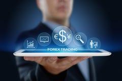 外汇贸易的股市投资交换货币企业互联网概念 免版税库存图片