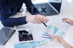 外汇贸易,网上投资 事务、互联网和技术概念 免版税库存照片