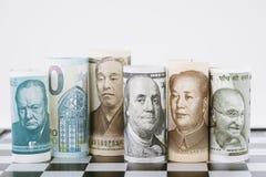 外汇,外汇,货币贬值操作比赛, wor 库存图片