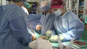 外科助理在外科医生附近工作 股票视频