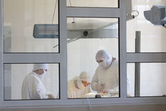 外科医生小组工作 免版税库存照片