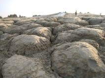 外籍人喜欢地形在泥泞的火山 免版税库存图片