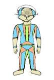外籍人宇航员动画片图画 皇族释放例证