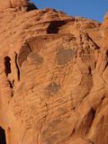 外籍人岩石面孔 库存照片