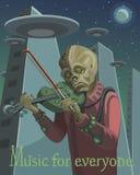 外籍人弹小提琴 皇族释放例证