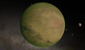 外籍人沙漠Exo行星 皇族释放例证