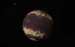 外籍人沙漠Exo行星 库存例证