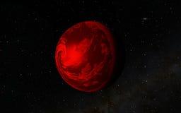 外籍人沙漠Exo行星 库存照片
