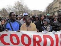 外籍人演示法国巴黎 图库摄影