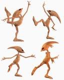 外籍人舞蹈四姿势 免版税图库摄影