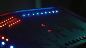 外籍人航天器未来派控制板有眨眼睛光的 影视素材