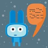 外籍蓝色字符谈话与您 免版税库存图片