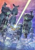 外籍行星太空飞船 库存图片