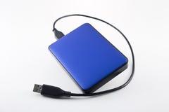 外置硬盘蓝色 库存照片