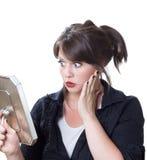 外观她的震惊妇女 免版税库存图片