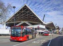 外部中央火车站提耳堡大学,荷兰 免版税图库摄影