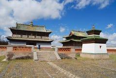 外部其中一个Erdene Zuu修道院大厦在Kharkhorin,蒙古 免版税库存照片