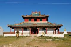 外部其中一个Erdene Zuu修道院大厦在Kharkhorin,蒙古 库存图片