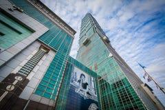 外部台北101,在信益中,台北,台湾 免版税图库摄影