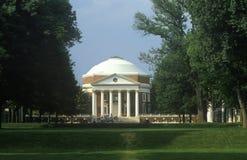 外部圆形建筑在弗吉尼亚大学由托马斯・杰斐逊,夏洛特维尔, VA设计了 库存图片