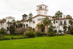 外部圣芭卜拉法院大楼加利福尼亚 库存图片