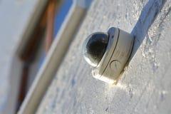 外部安全监控相机 免版税图库摄影