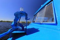 外部客舱水翼艇客轮 库存图片
