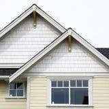 外部家庭房子屋顶 库存图片
