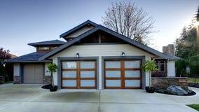 外部家庭房子 免版税图库摄影