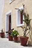 外部房子地中海视图 免版税库存照片