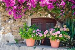 外部房子意大利语 库存图片