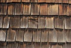 外部有历史的家庭俄克拉何马木瓦墙&# 免版税库存照片