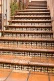 外部楼梯, Tlaquepaque在Sedona,亚利桑那 免版税库存照片
