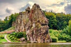 外部石头,在Teut的明显砂岩岩层 免版税图库摄影