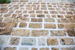 外部石头被铺的背景 库存照片