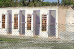 外部罗本岛监狱 免版税图库摄影