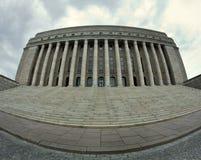 外部芬兰房子议会 库存照片