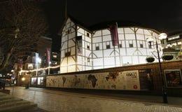 外部观点的莎士比亚的GlobeTheatre 免版税图库摄影