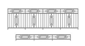 外部金属栏杆栏杆 免版税库存照片
