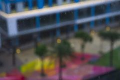 外部雨视窗 免版税图库摄影
