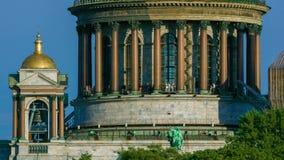 外部St以撒的大教堂,圣彼得堡,俄罗斯 股票录像